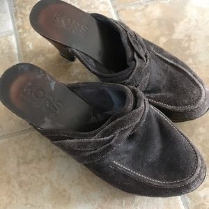 KORS BY MICHAEL KORS BROWN CLOGS